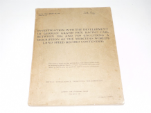 INVESTIGATION INTO THE DEVELOPMENT OF GERMAN GRAND PRIX RACING CARS Between 1934 and 1939 (1st ed )
